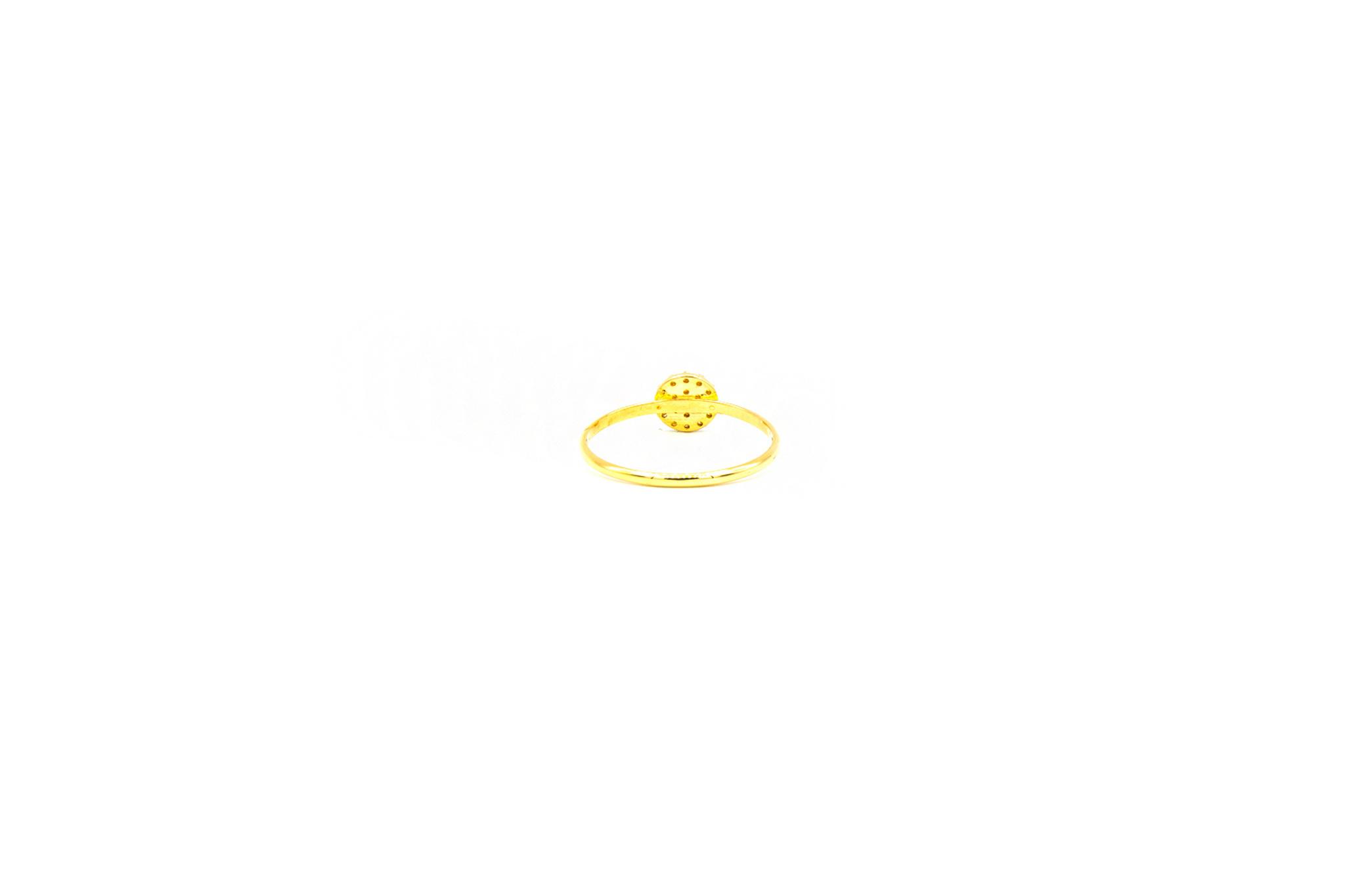 Ring ronde pavé bezet met zirkonia's small-4