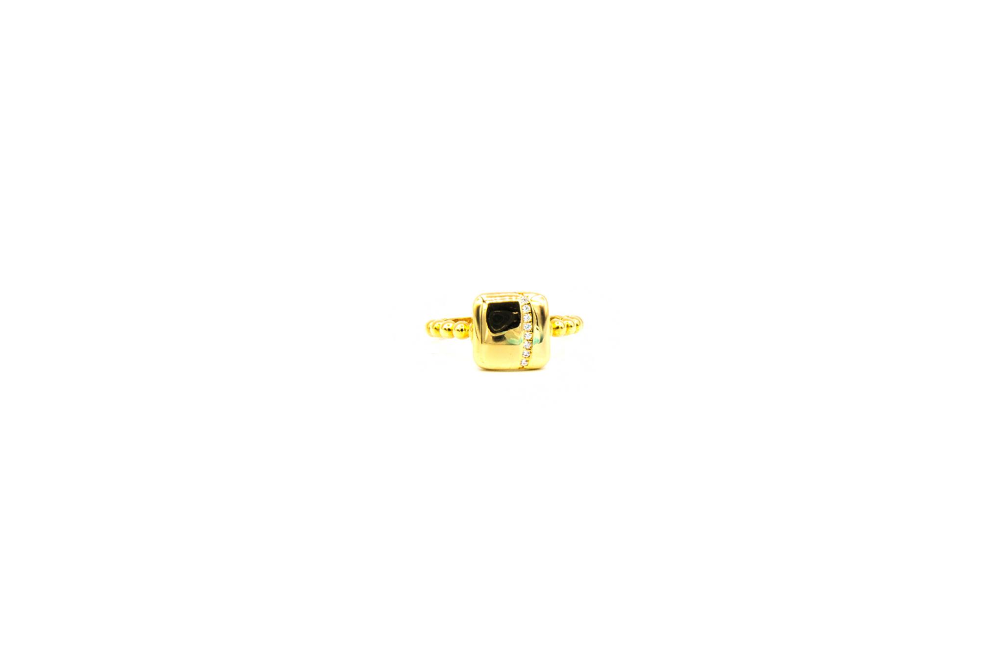 Ring vierkant bezet met rij zirkonia's-1