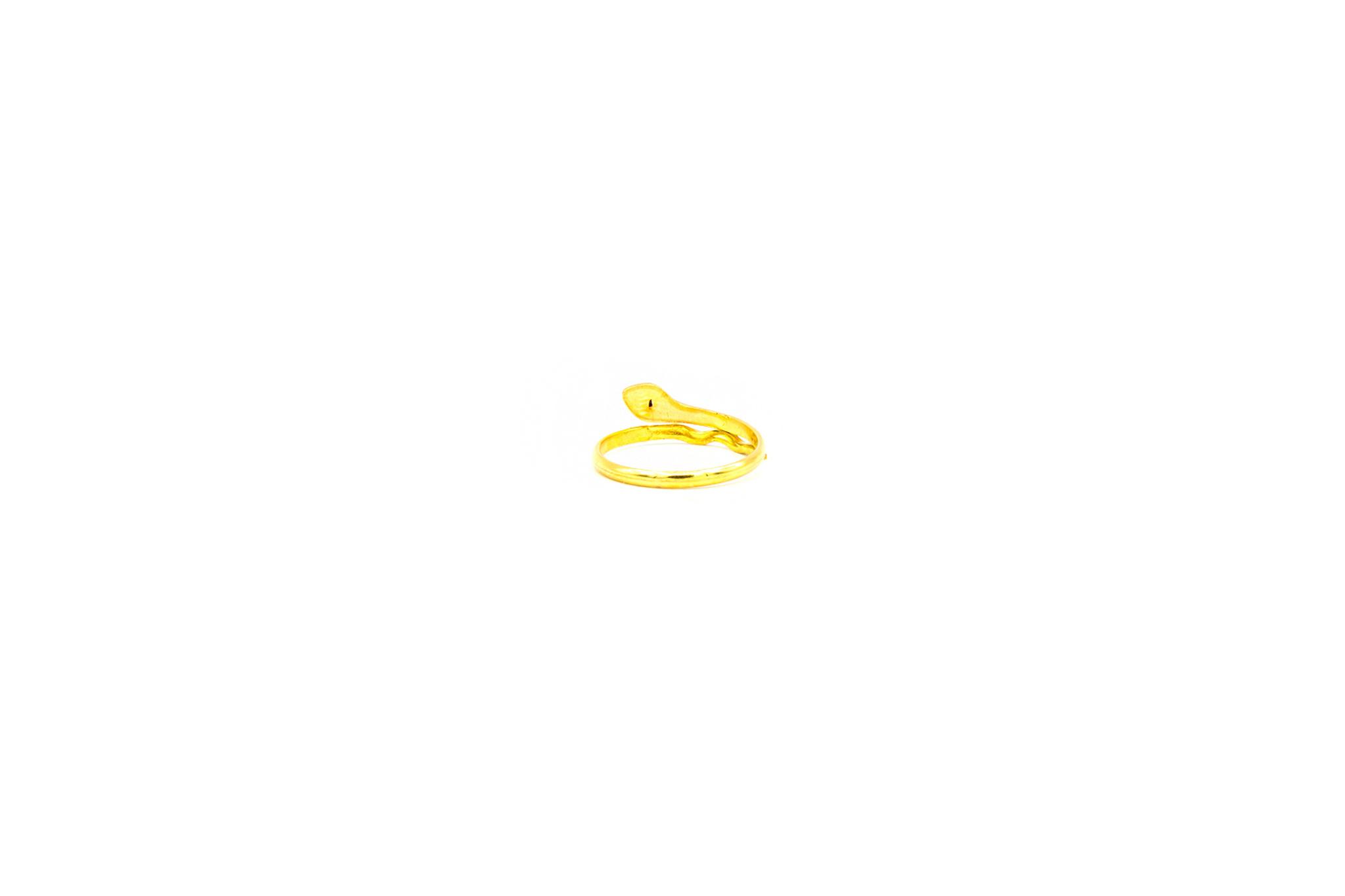 Ring met slang en rode zirkonia-4