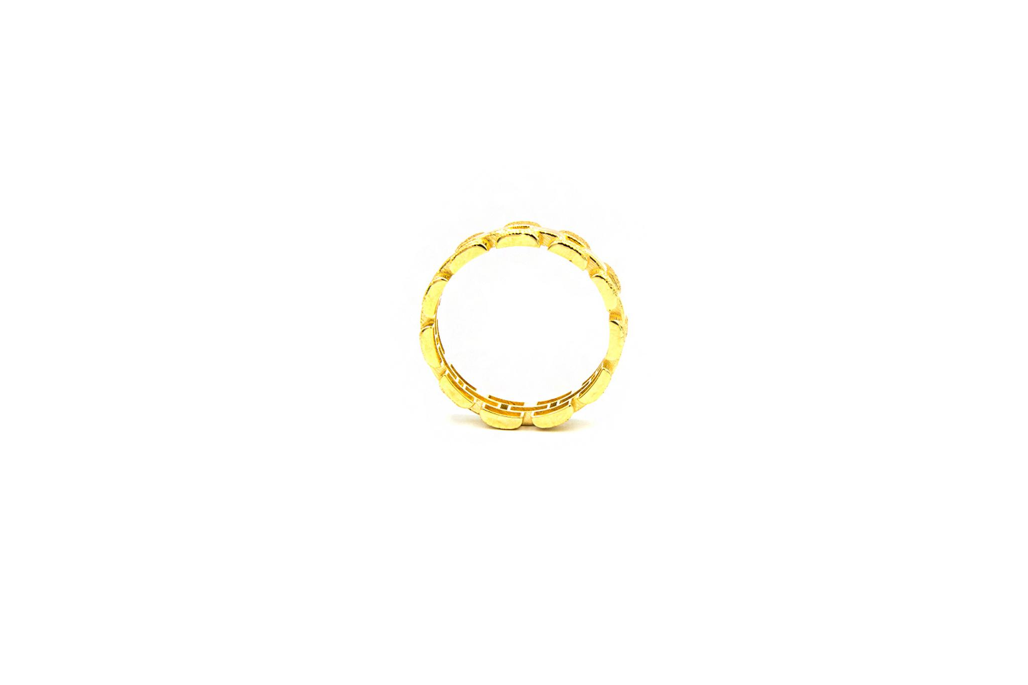 Ring Rolexschakel vast smal glanzend/gematteerd-4