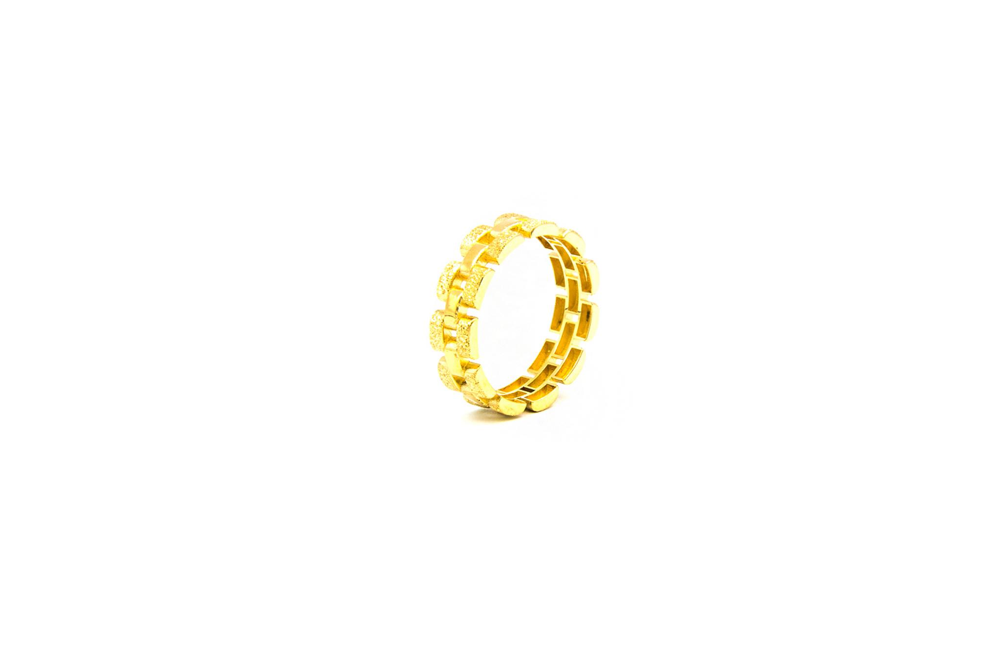 Ring Rolexschakel vast smal glanzend/gematteerd-5