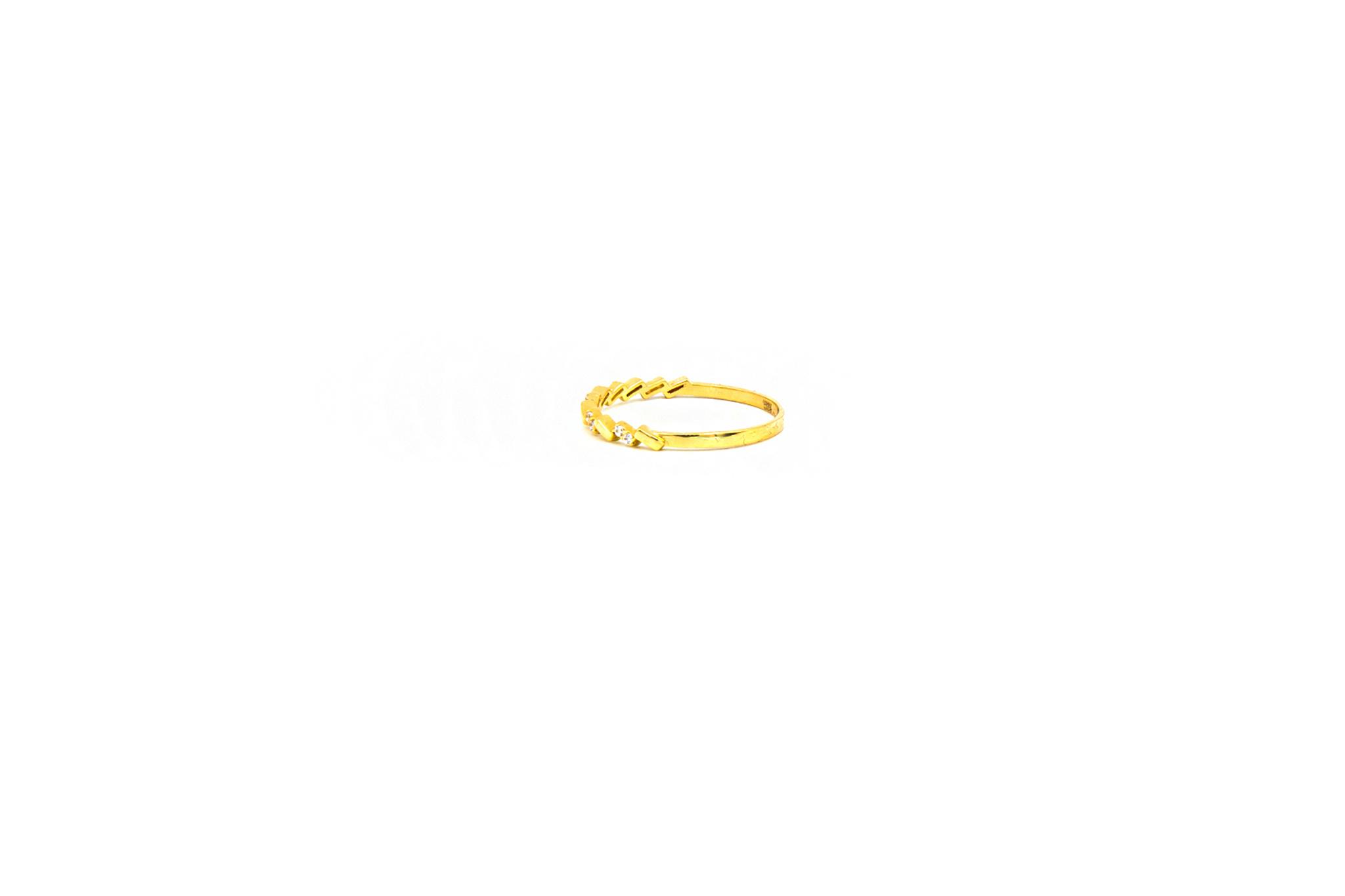 Ring aanschuif bezet met zirkonia's-2