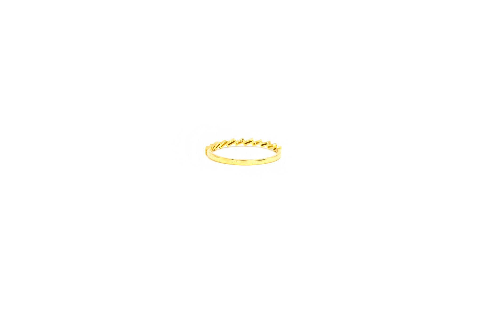 Ring aanschuif bezet met zirkonia's-3