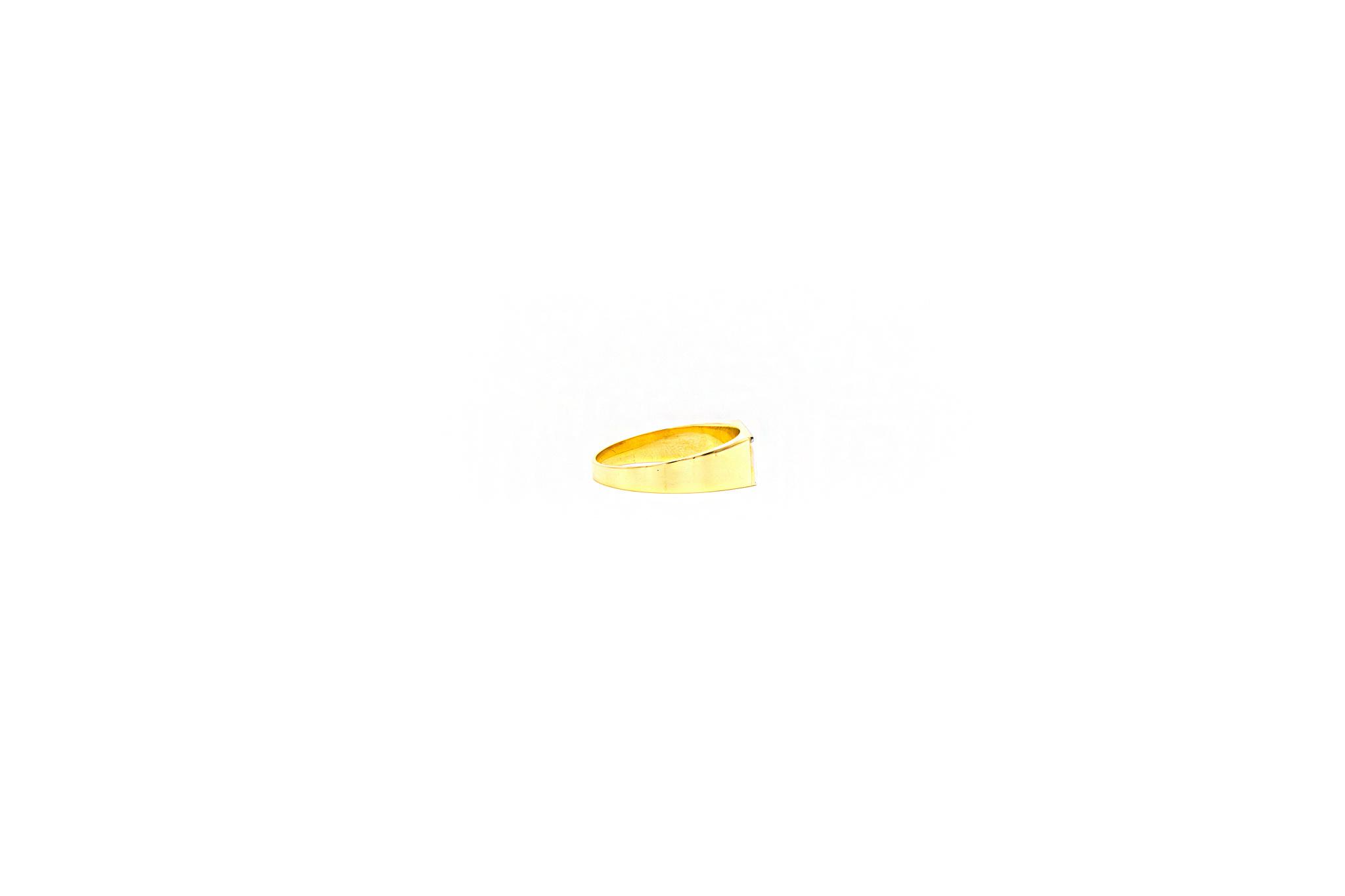 Ring zegel bicolor met mat effect-3