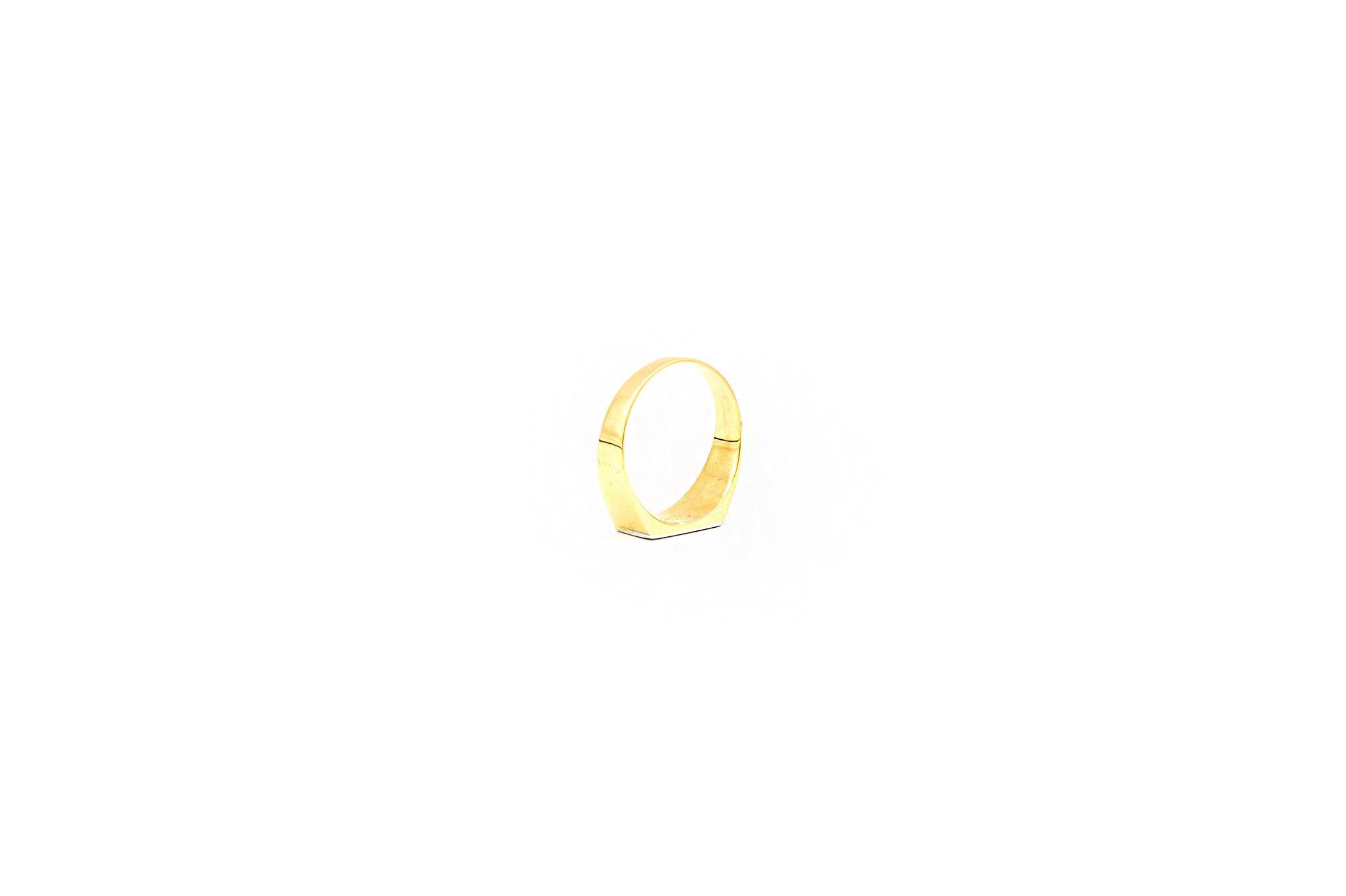 Ring zegel bicolor met mat effect-5