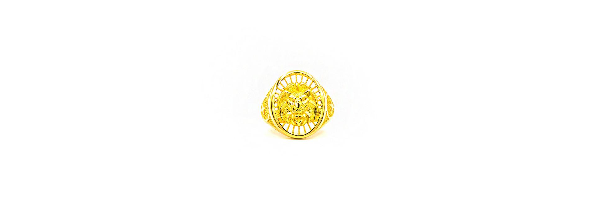 Ring opengewerkte leeuwenkop