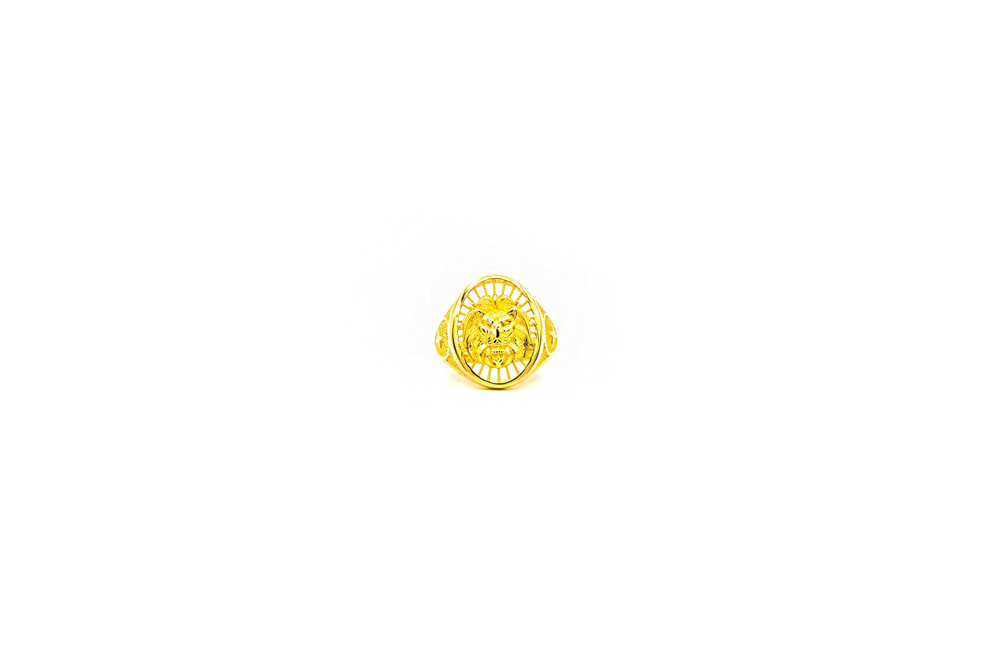 Ring opengewerkte leeuwenkop-1