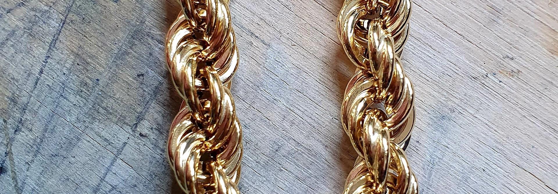 Rope chain Nederlands goud 14kt 8 mm