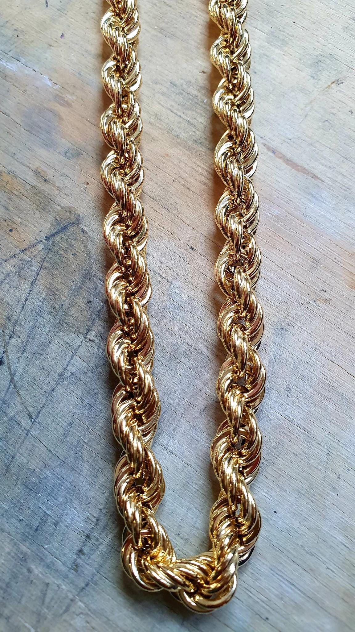 Rope chain Nederlands goud 14kt 8 mm-1