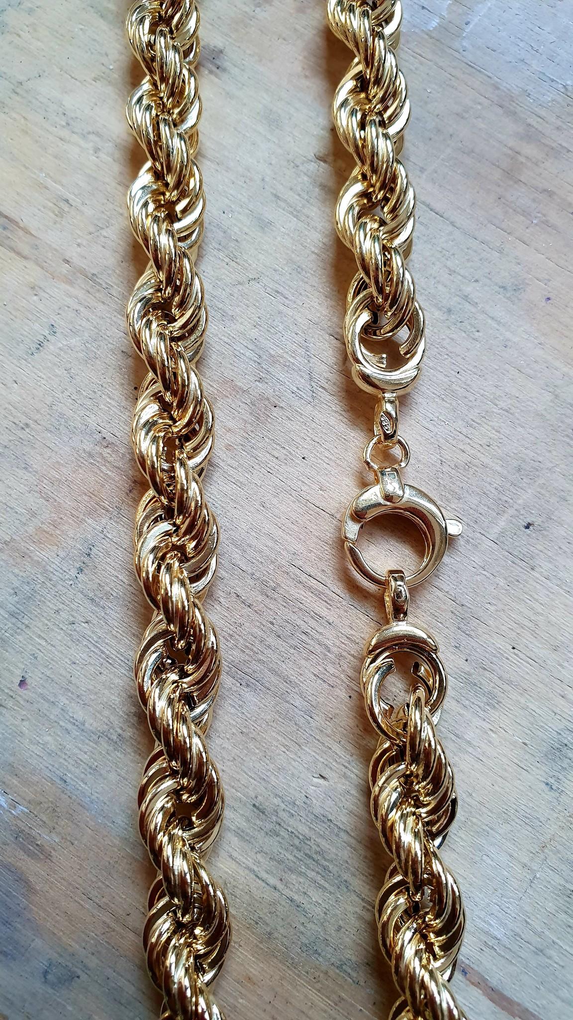 Rope chain Nederlands goud 14kt 8 mm-3
