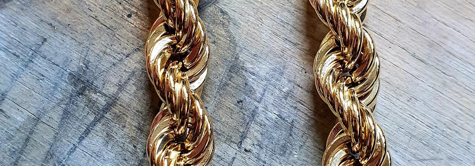 Rope chain Nederlands goud 14kt 9 mm