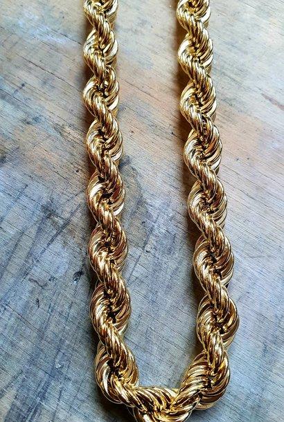 Rope chain Nederlands goud 9mm