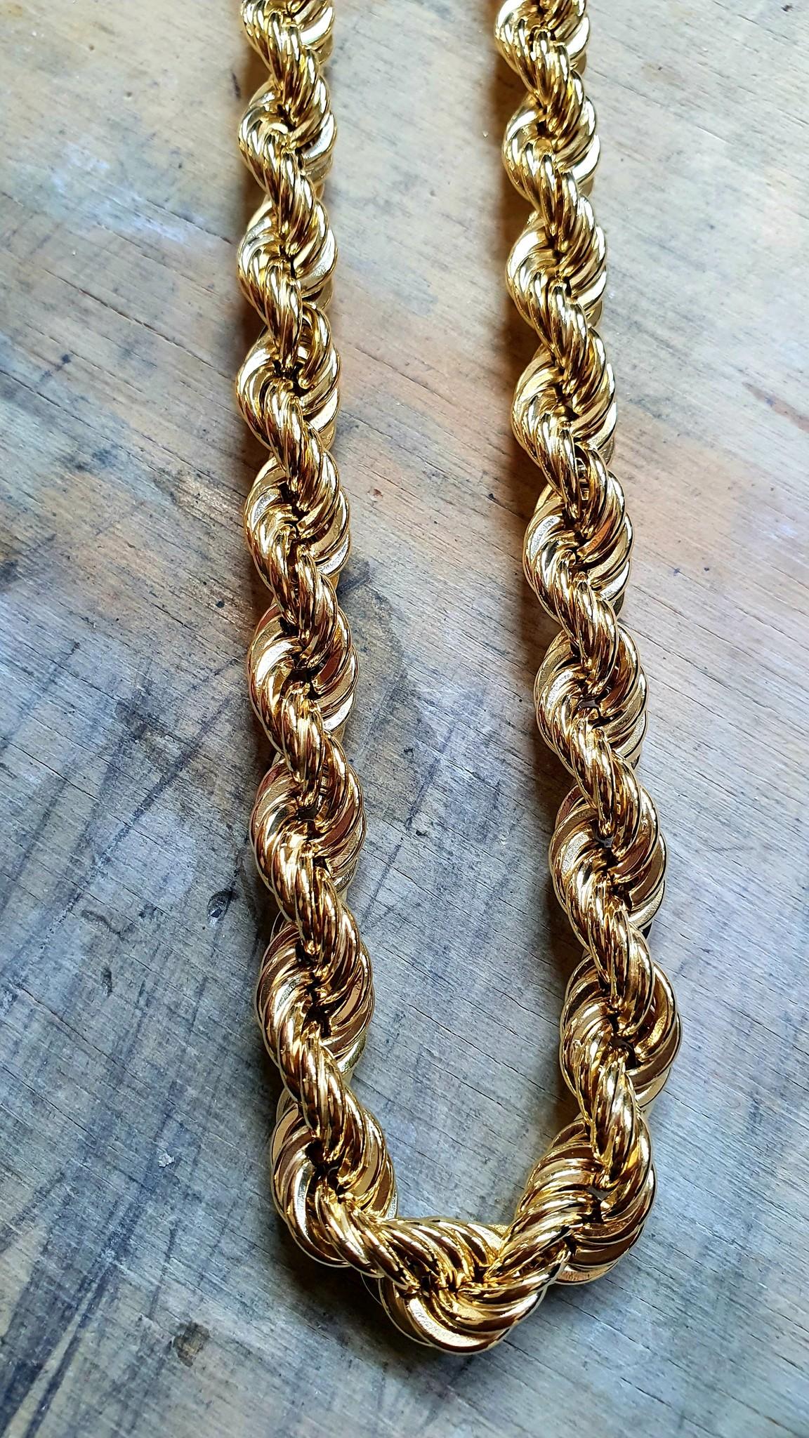 Rope chain Nederlands goud 14kt 9 mm-1