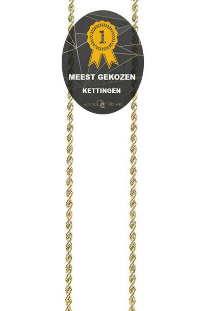 Rope chain Nederlands goud 2.5mm