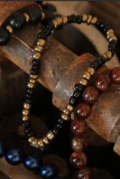 Bracelets4Malawi Black&Gold