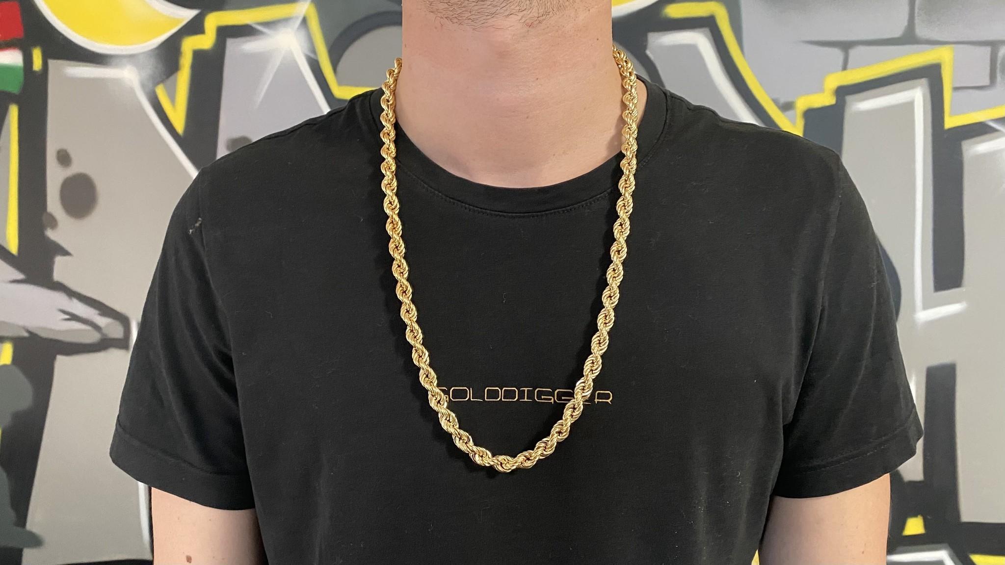 Rope chain Nederlands goud 14kt 9 mm-2
