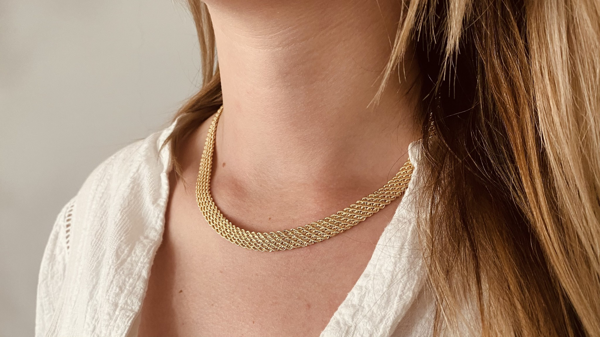 Collier brede rope chain-1