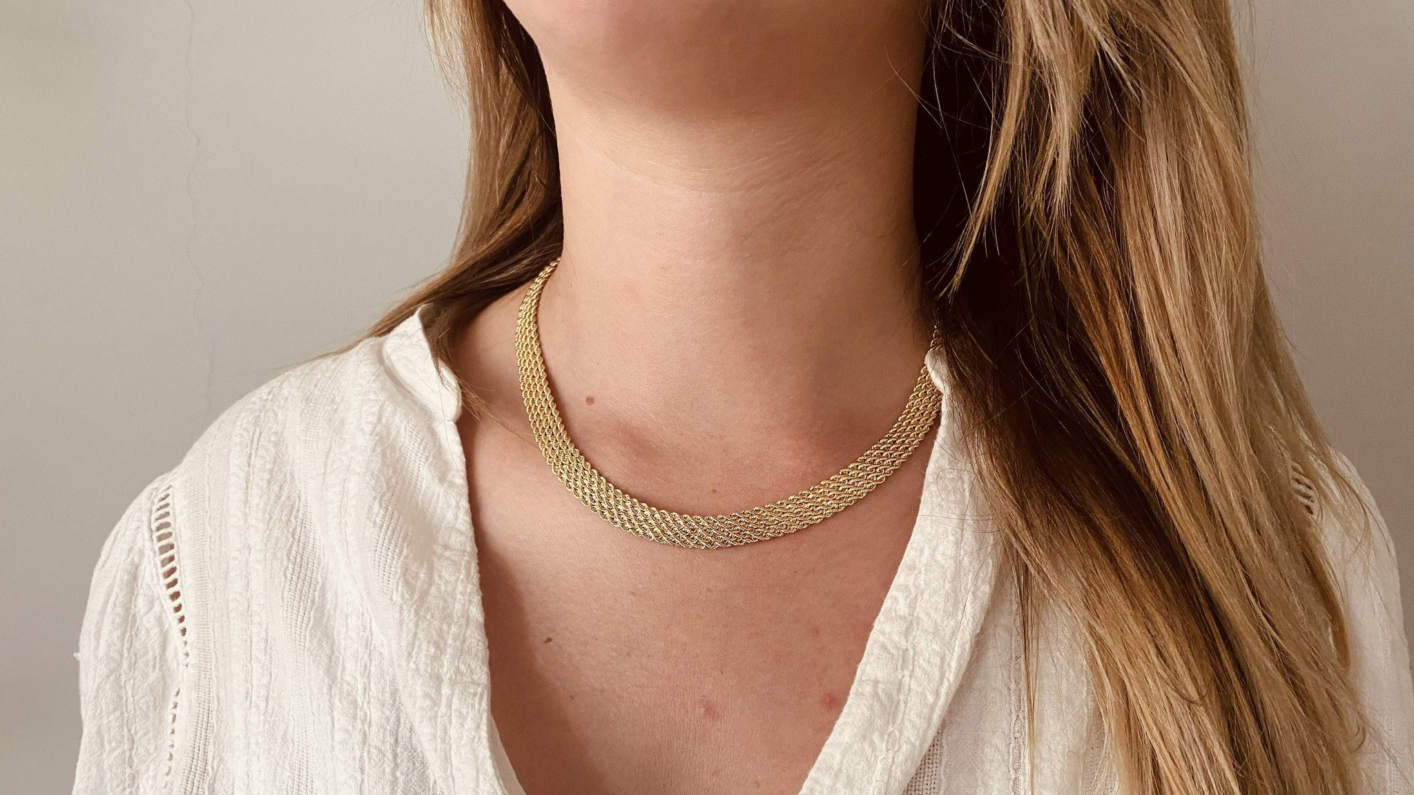 Collier brede rope chain-2