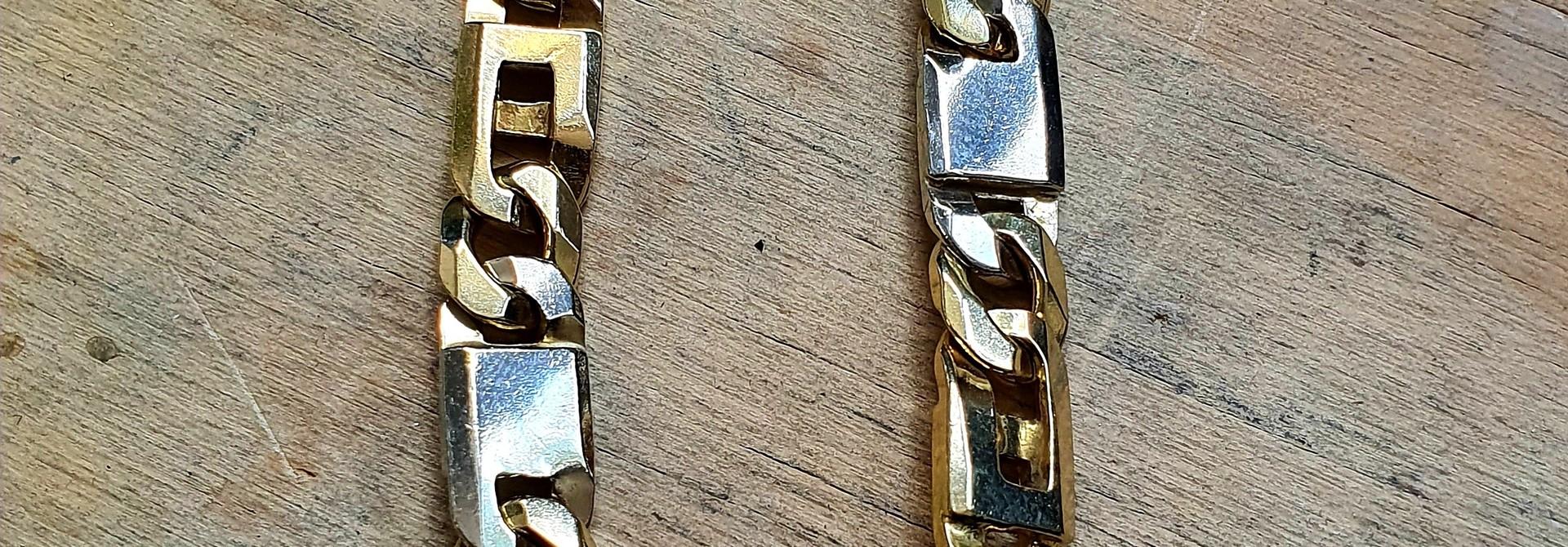 Ketting bicolor gourmet/ankerschakel