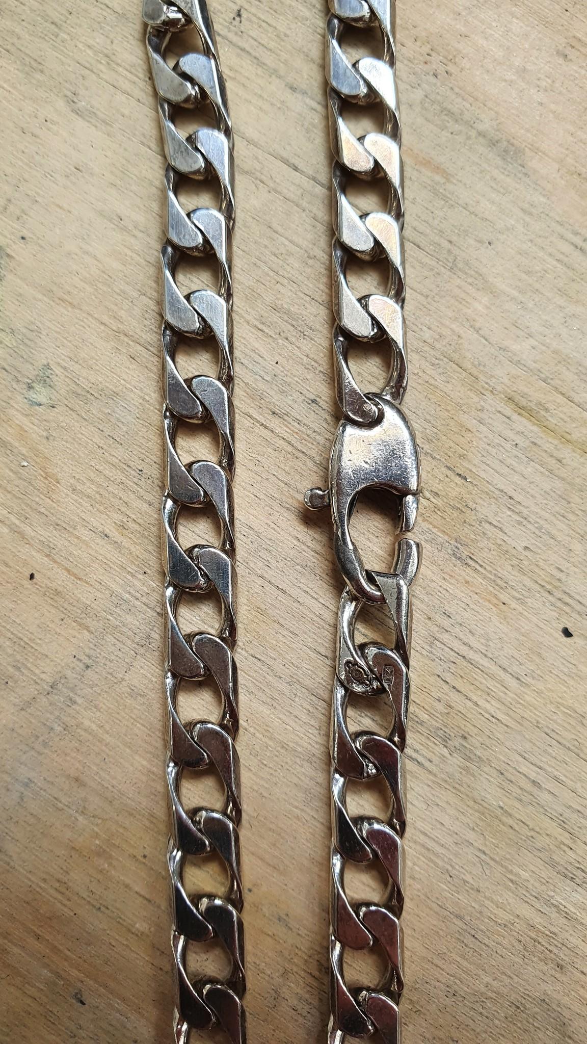 Ketting zilver met gourmetschakel-3