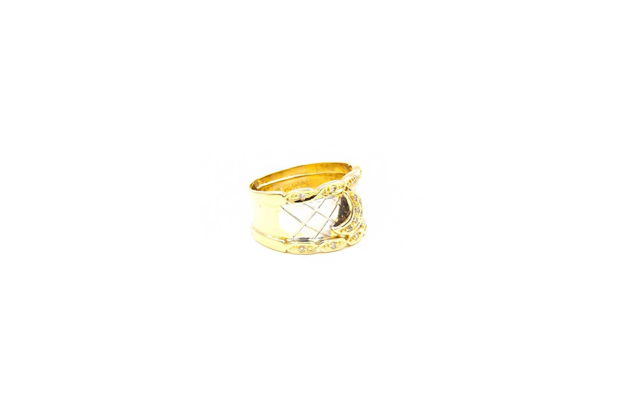 Ring bicolor maantje met diamant-4