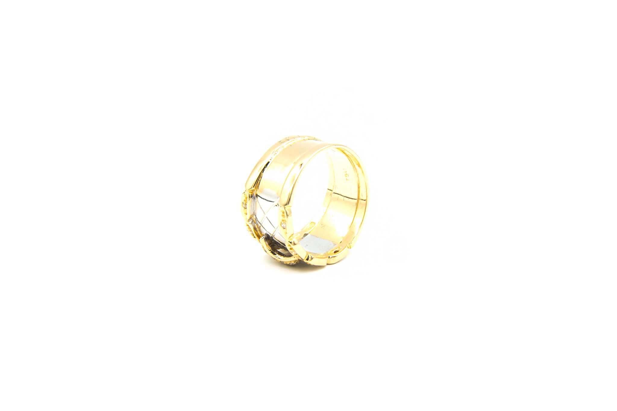 Ring bicolor maantje met diamant-6