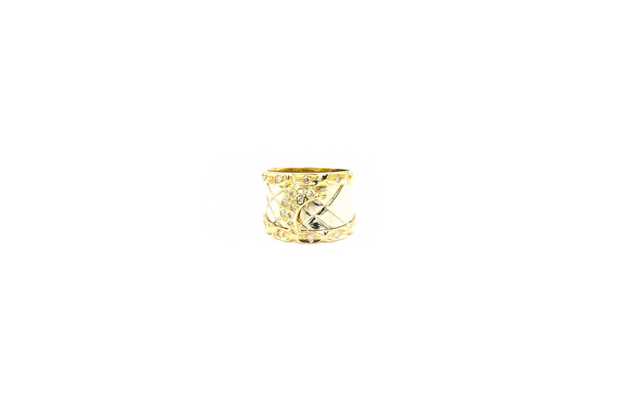 Ring bicolor maantje met diamant-1