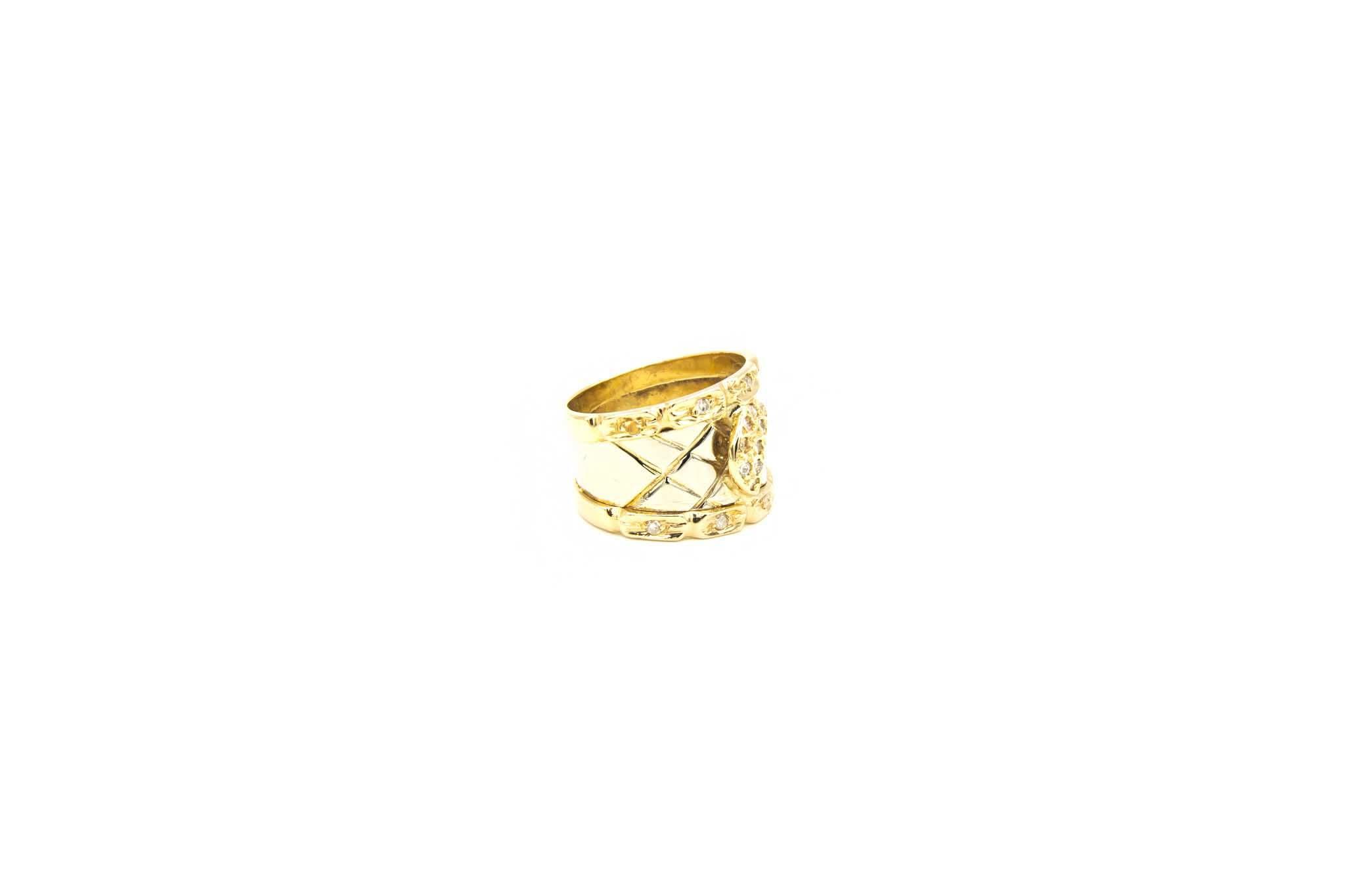 Ring bicolor maantje met diamant-7