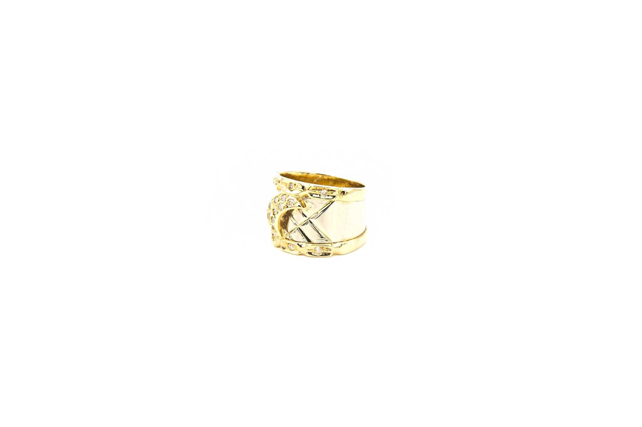 Ring bicolor maantje met diamant-8