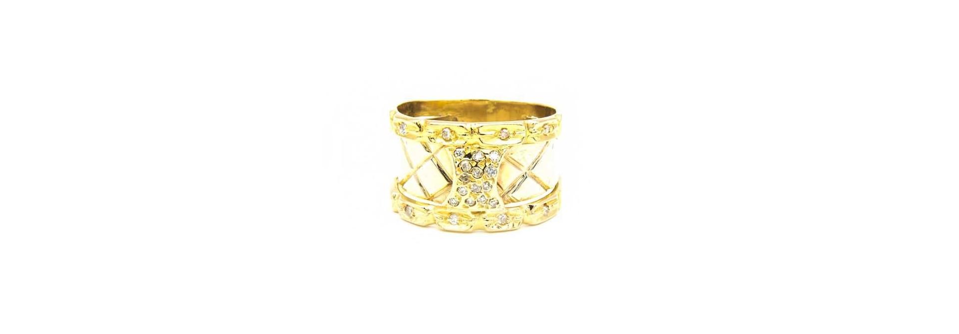 Ring bicolor met diamant