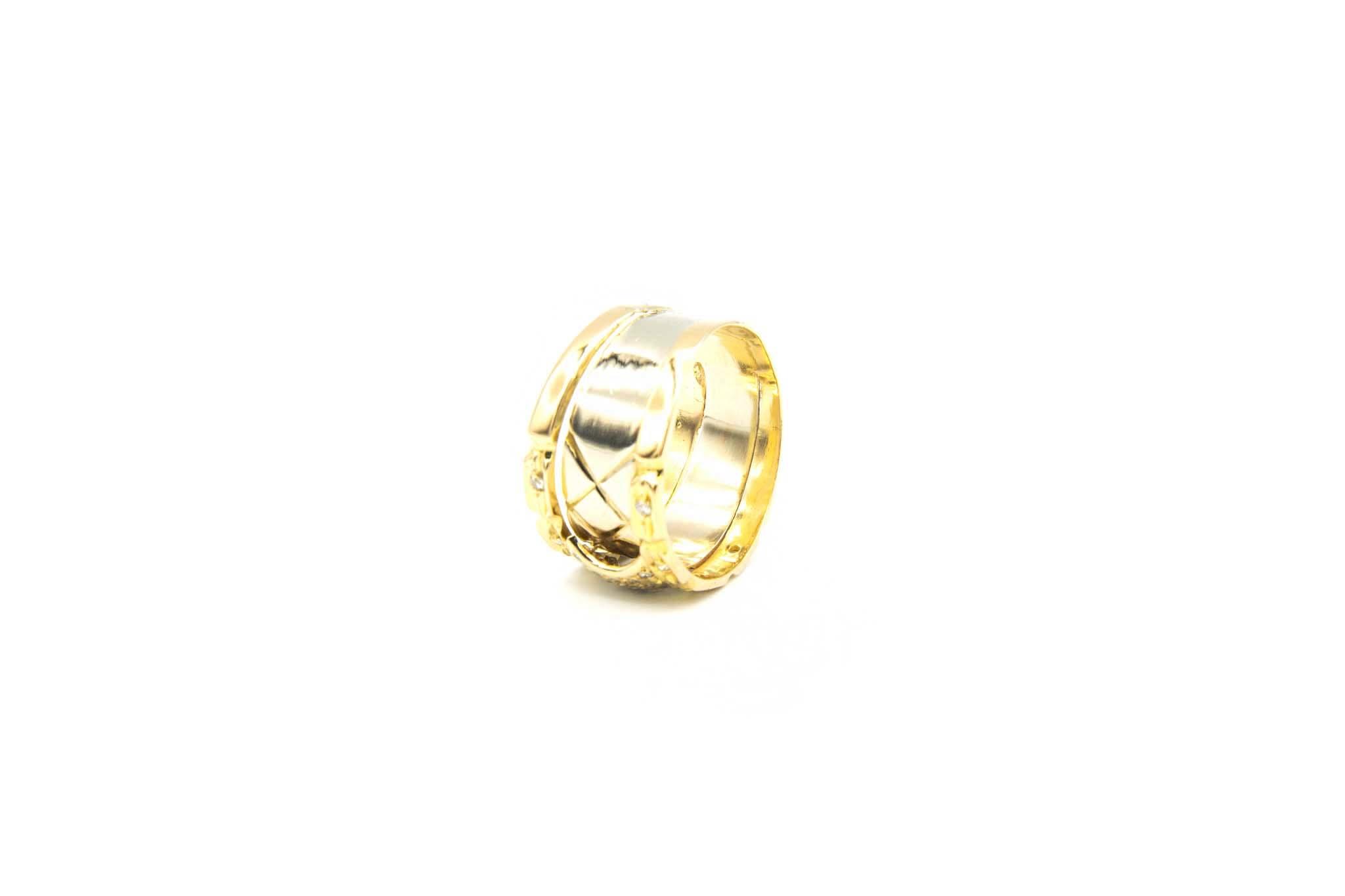 Ring bicolor met diamant-4
