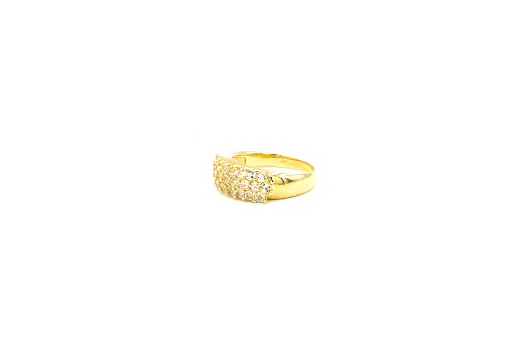 Ring ingezet met driedubbele rij zirkonia's-2