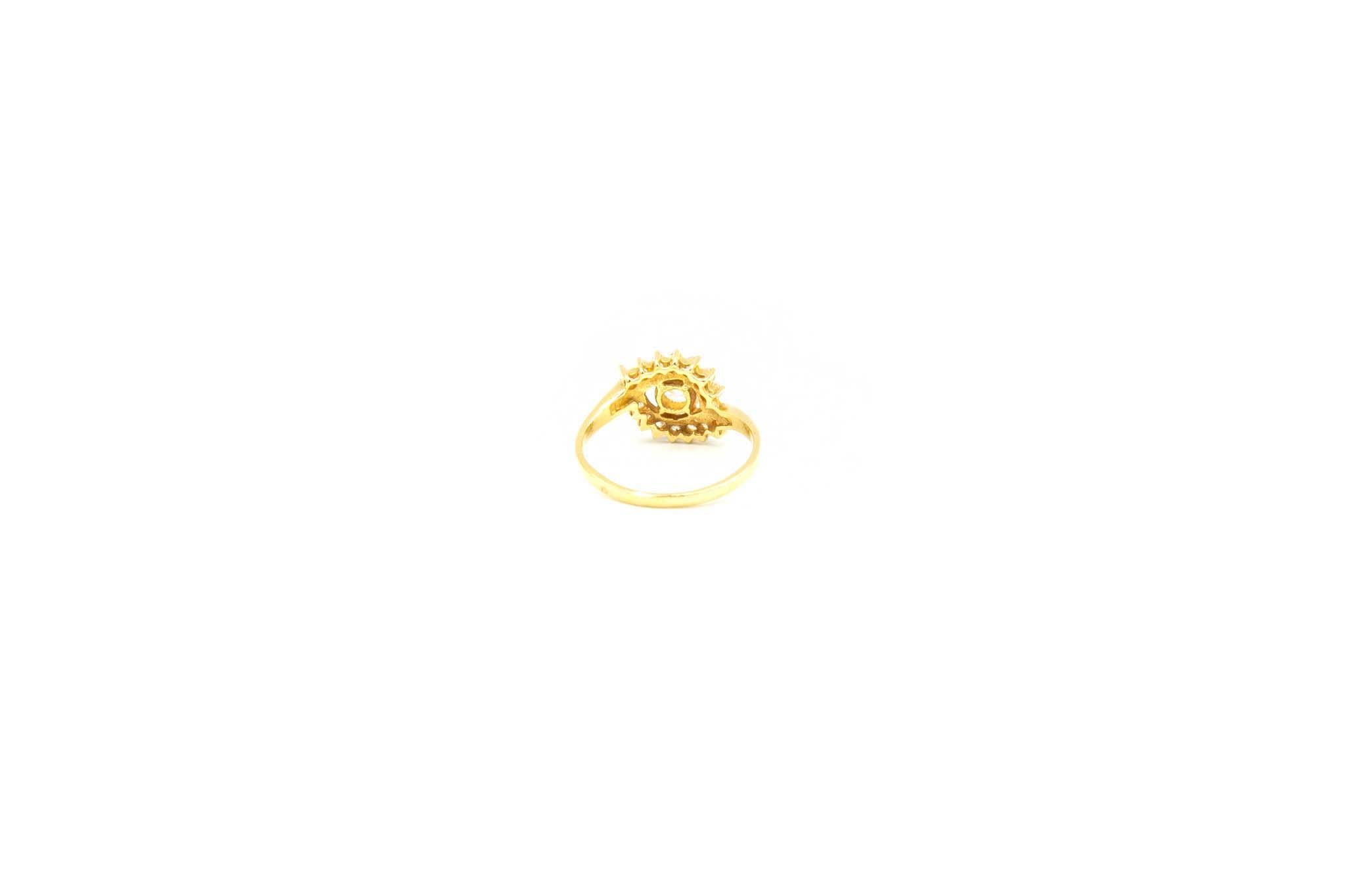 Ring met zirkonia's in het midden-3