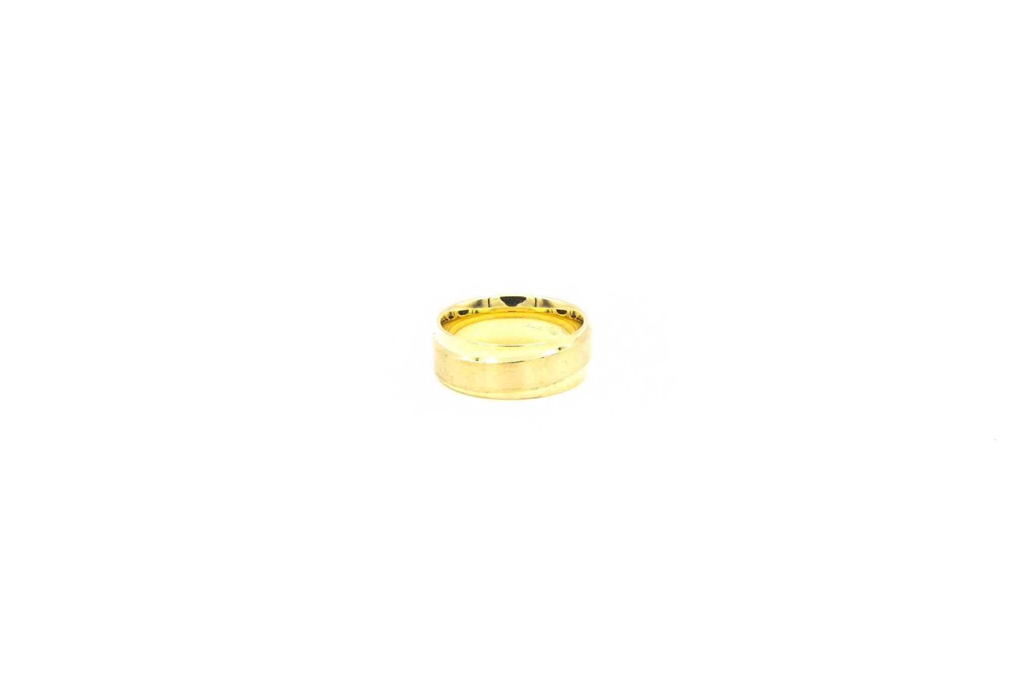 Ring glanzend met gematteerde band met diamantjes-3