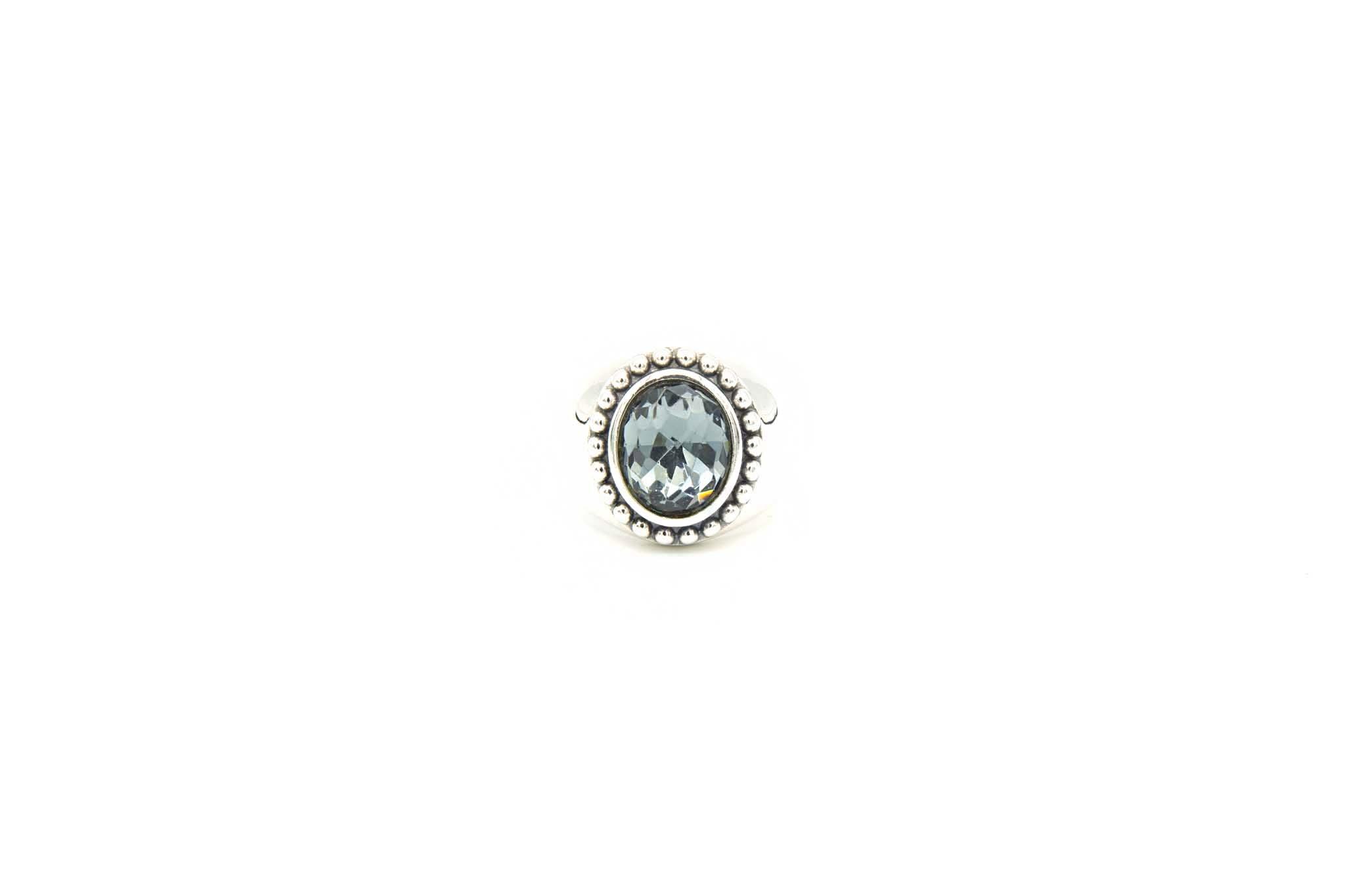 Ring met grijsblauwe steen-1