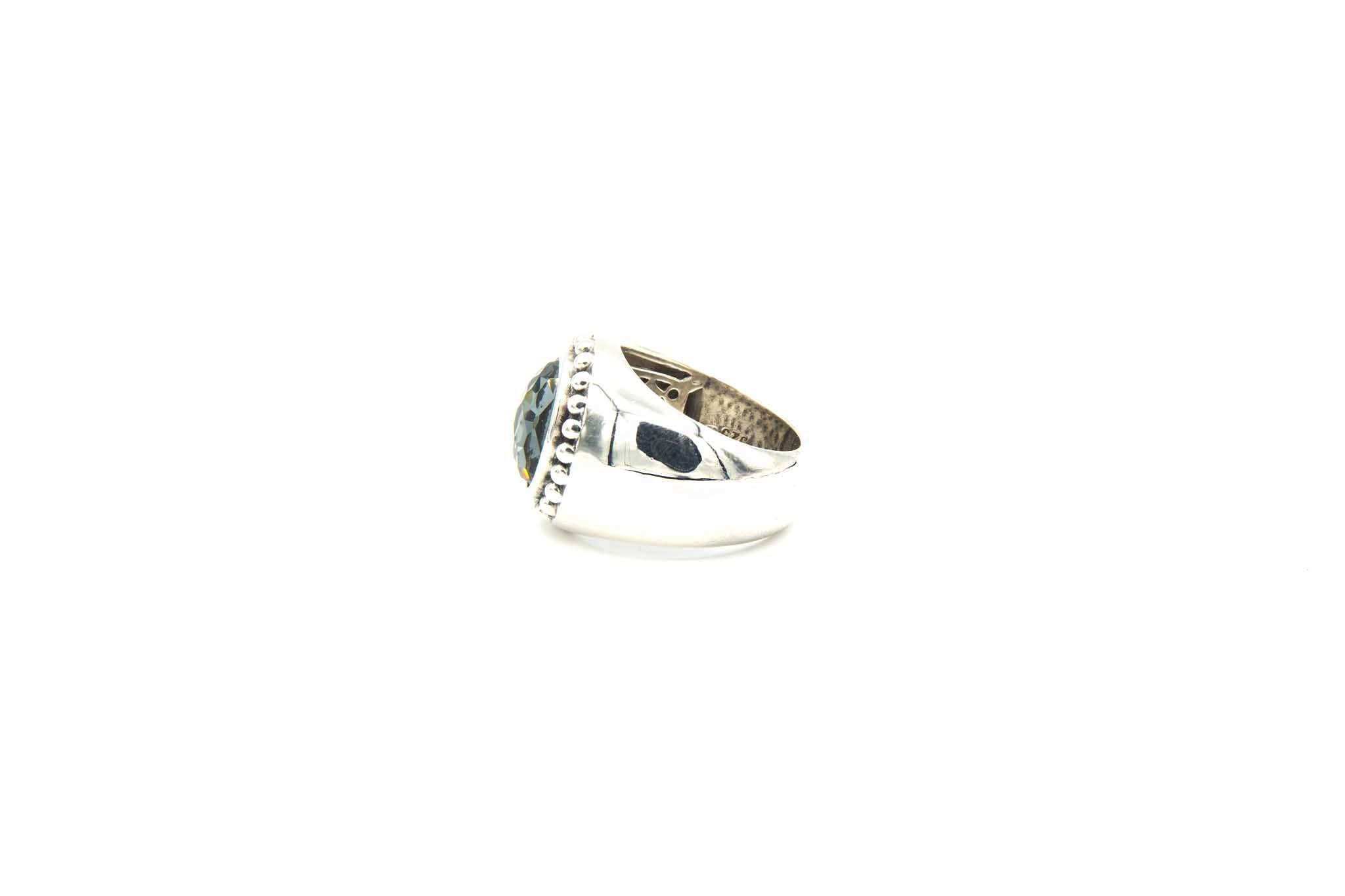 Ring met grijsblauwe steen-3