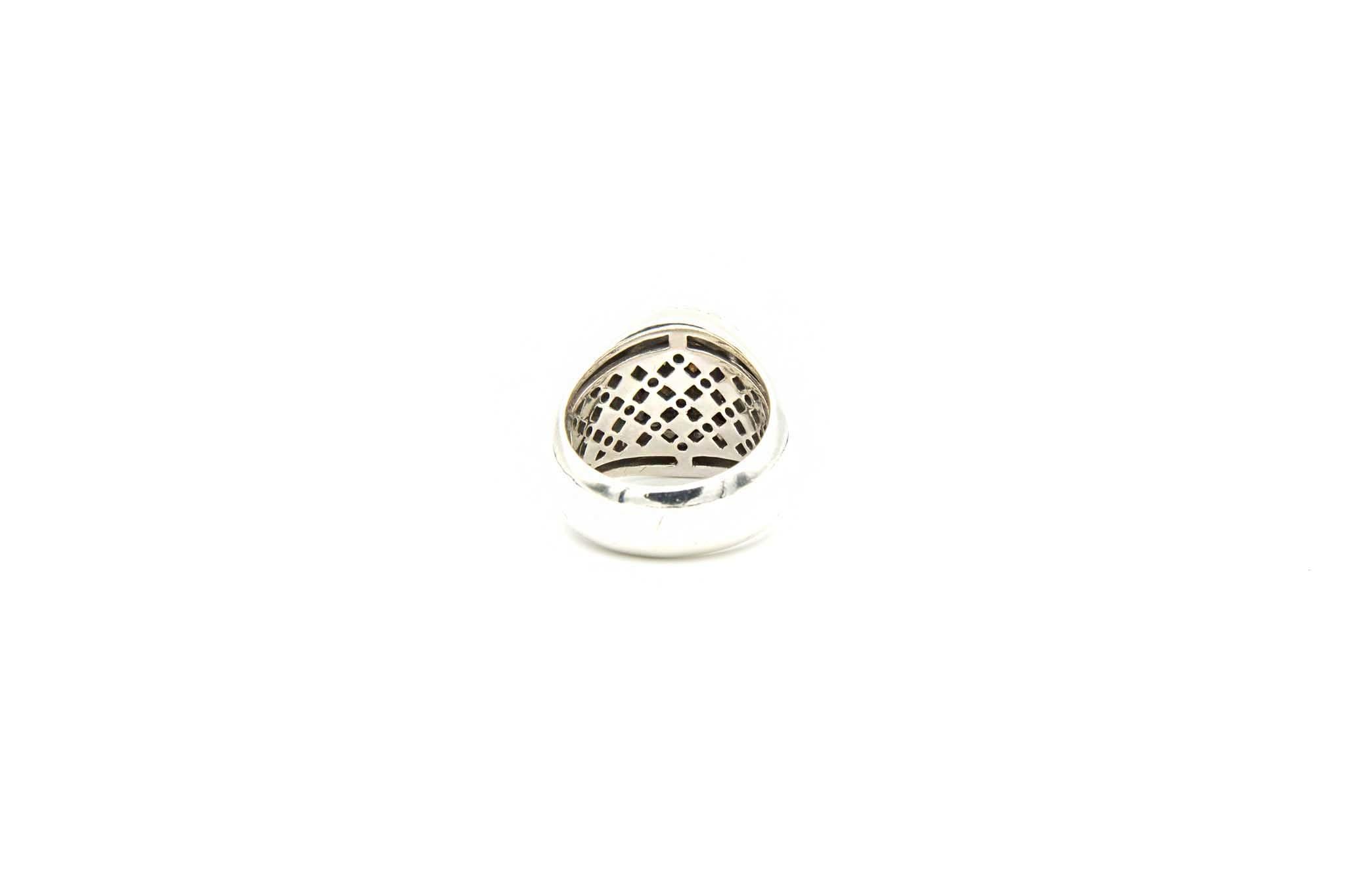 Ring met grijsblauwe steen-4