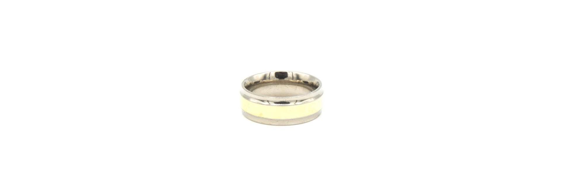 Ring geelgoud met titanium