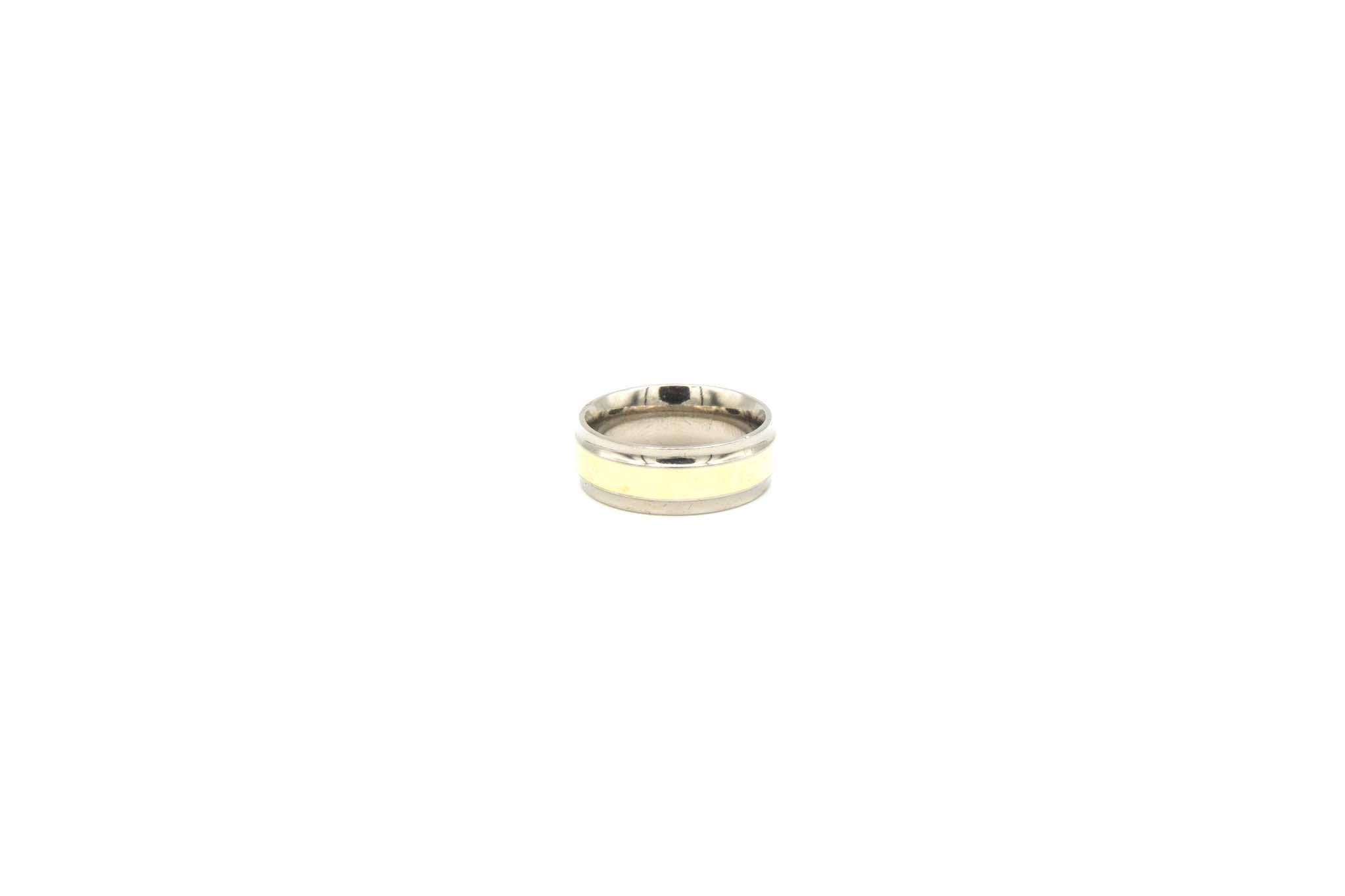 Ring geelgoud met titanium-1