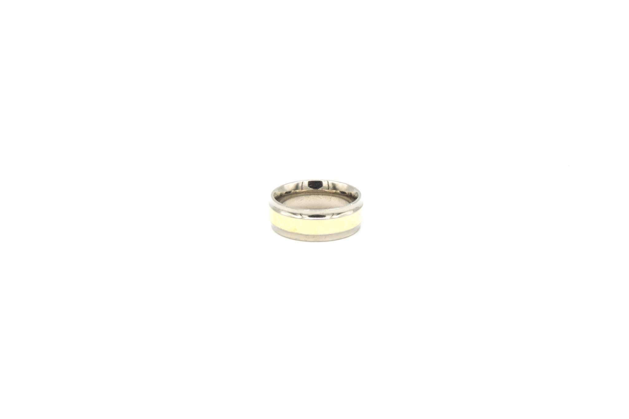 Ring geelgoud met titanium-2