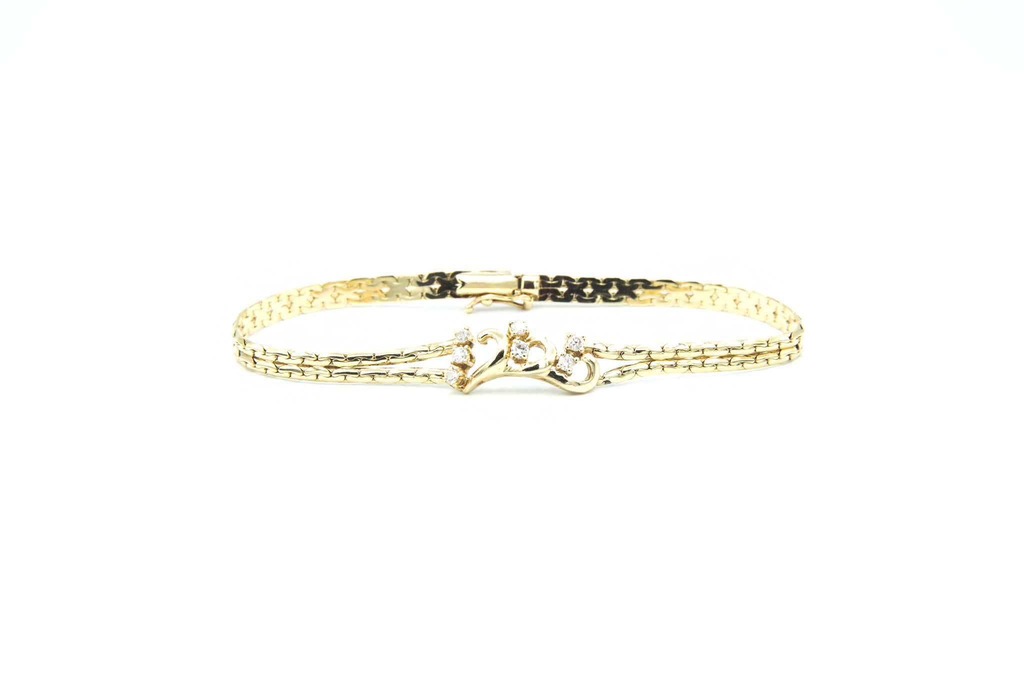 Armband met sierkrullen en zirkonia's-3