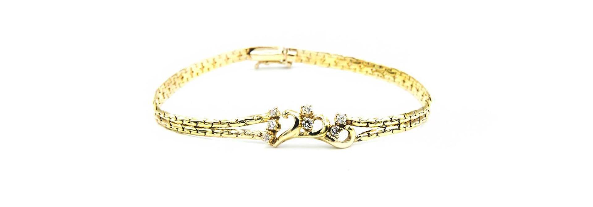 Armband met sierkrullen en zirkonia's