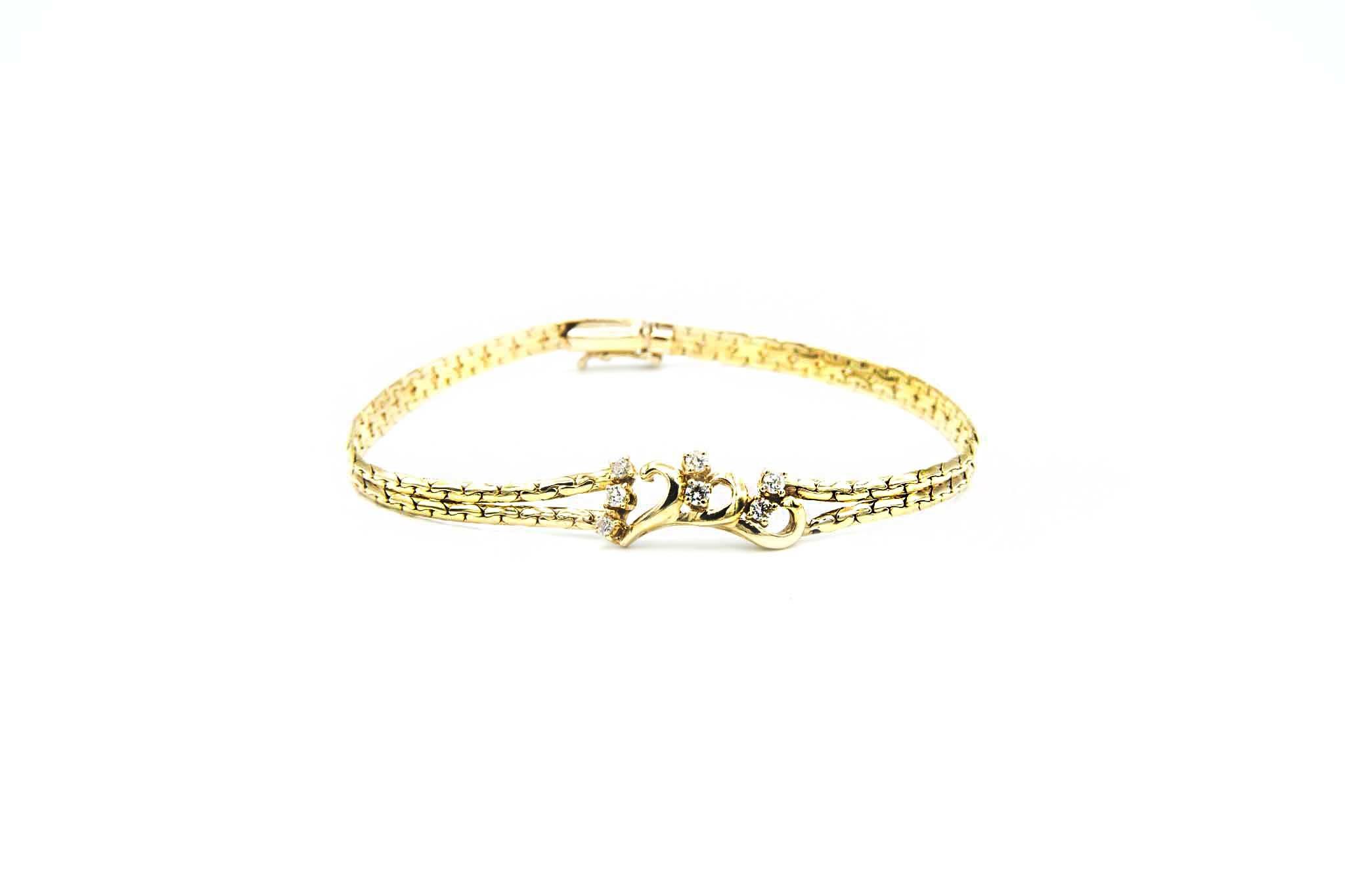Armband met sierkrullen en zirkonia's-1