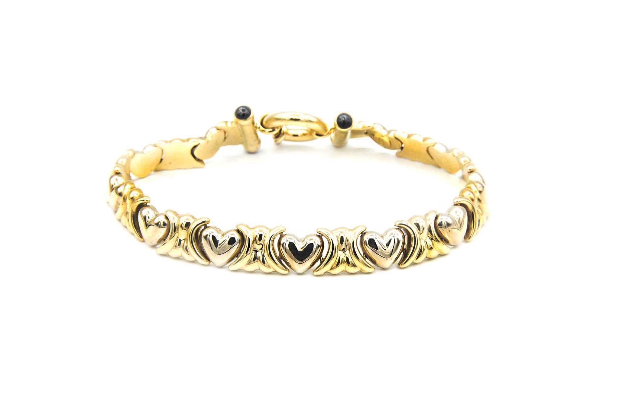 Armband met hartjes-1