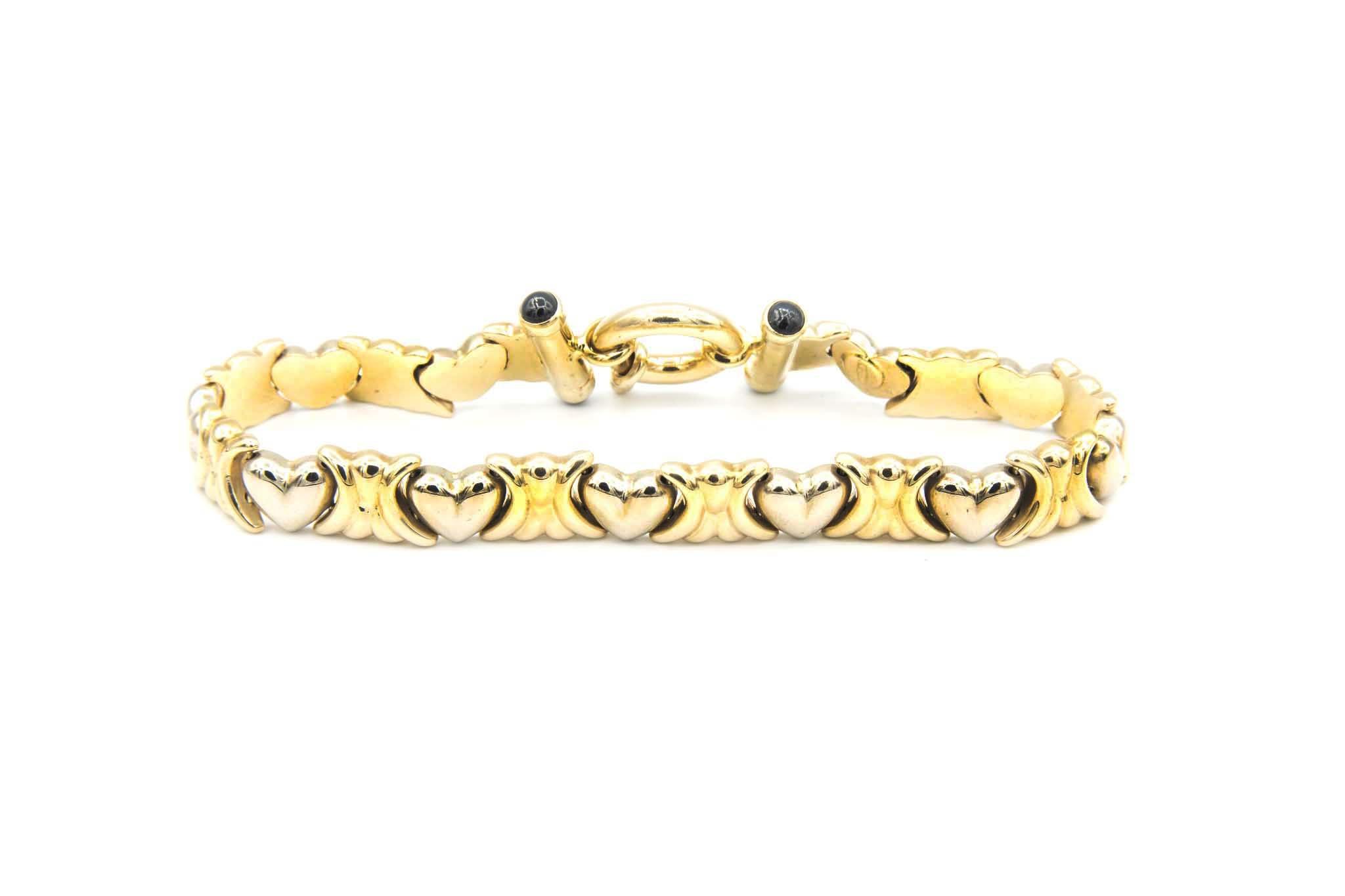 Armband met hartjes-3