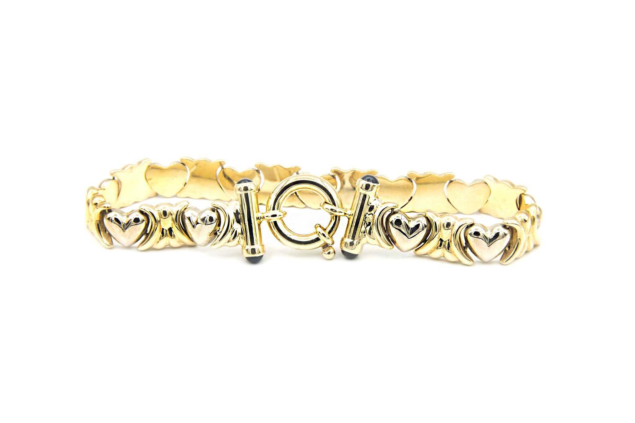 Armband met hartjes-4