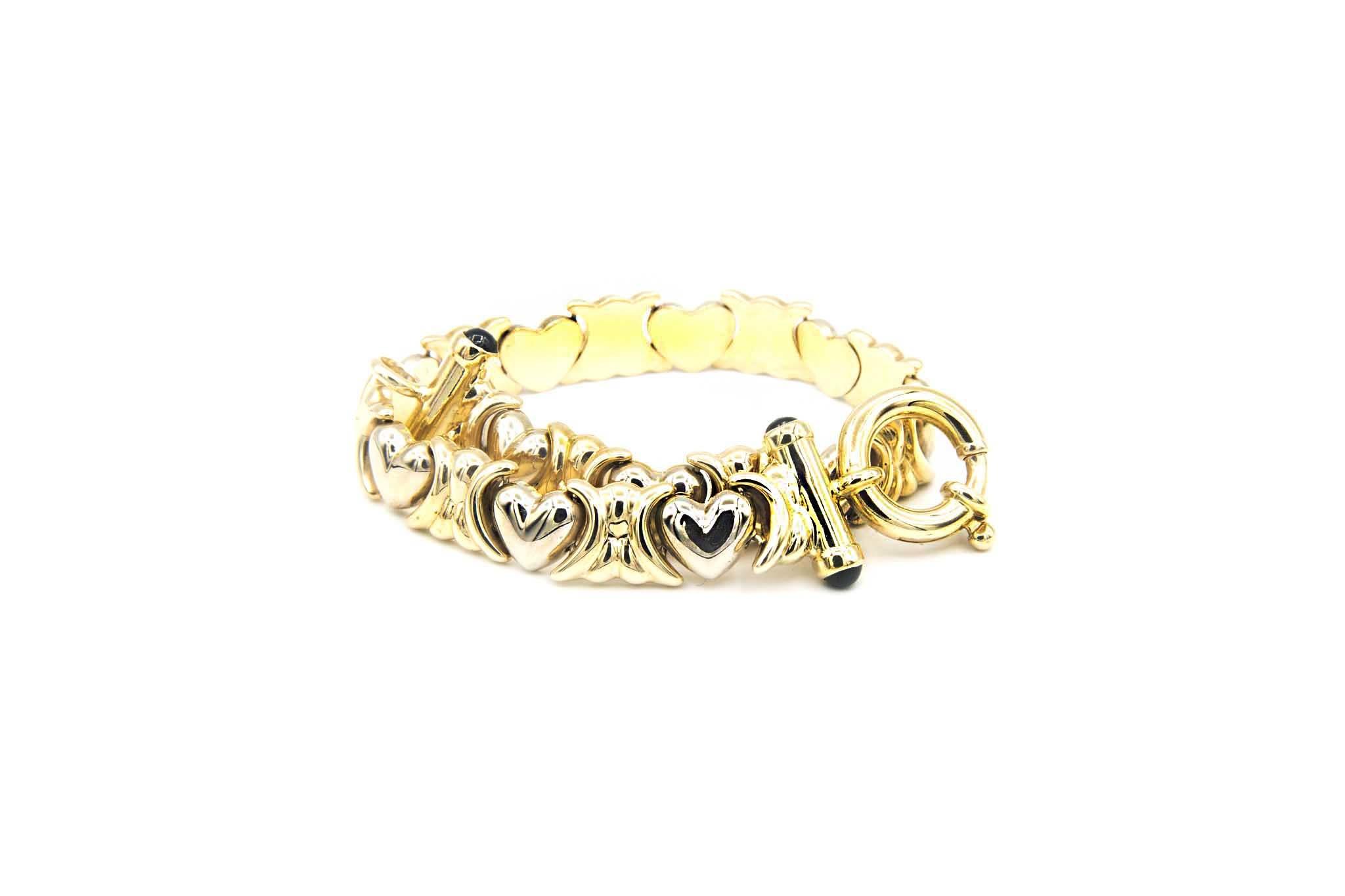 Armband met hartjes-5