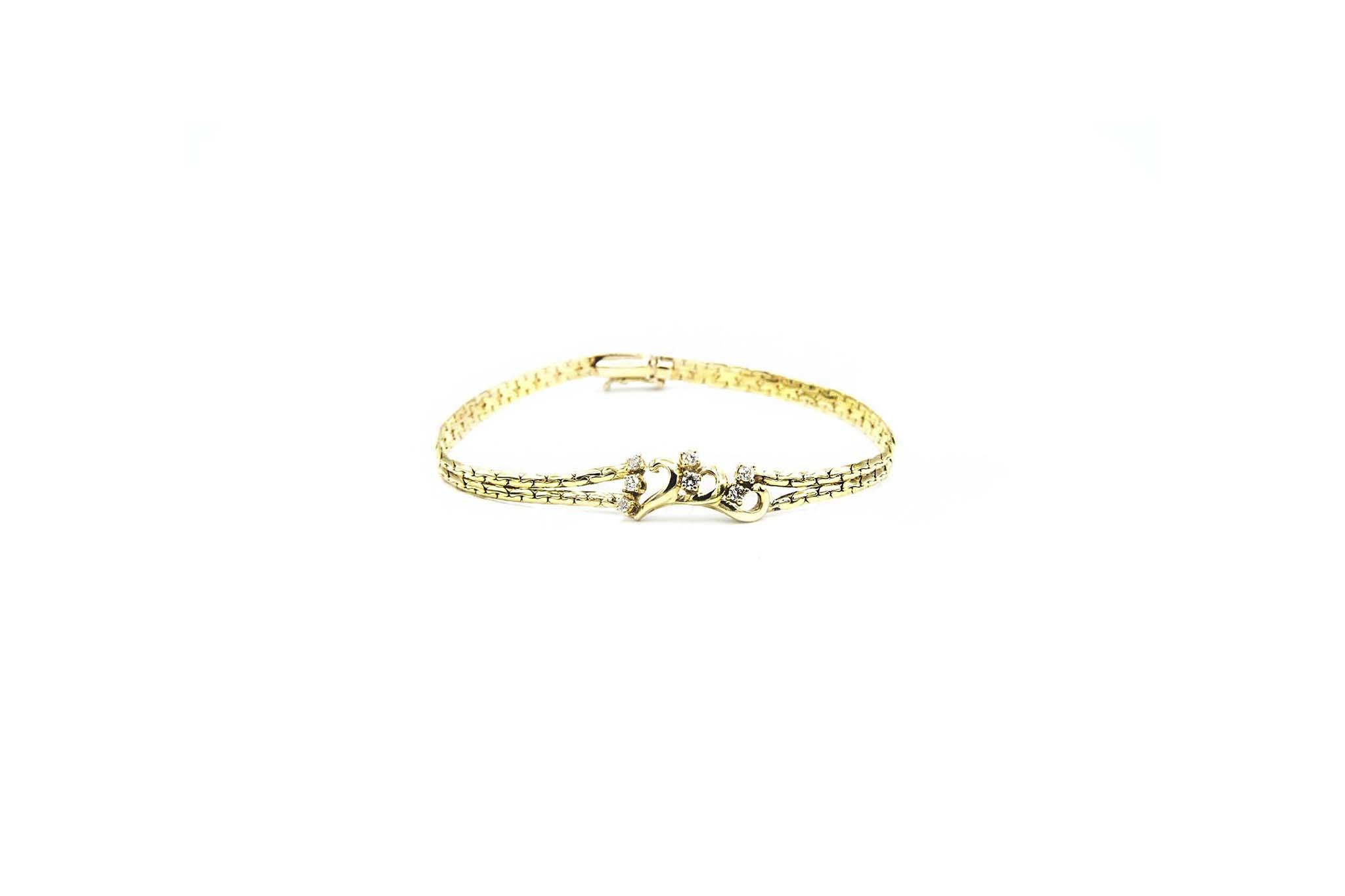 Armband met sierkrullen en zirkonia's-2