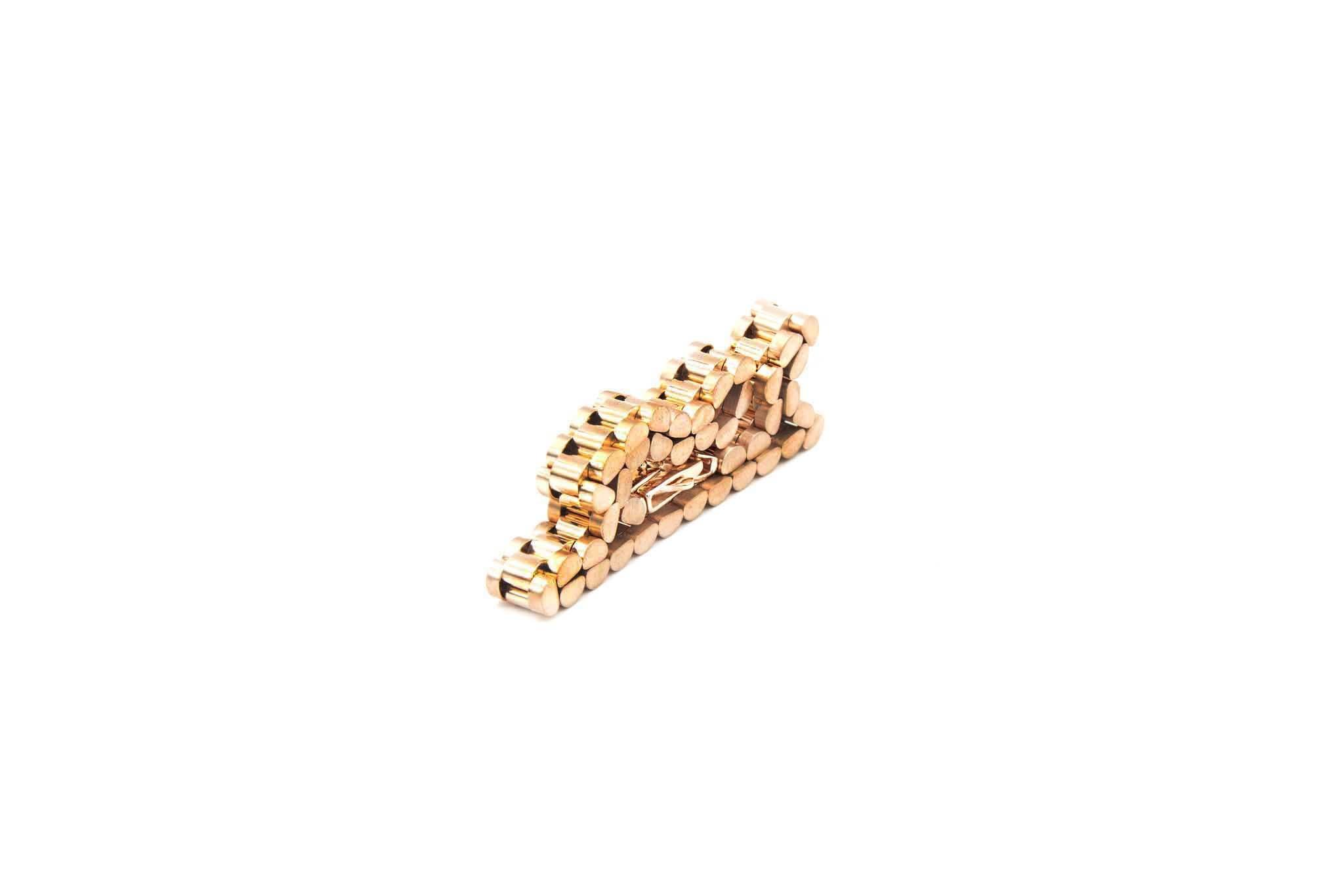 Armband flexibele rolexschakel rosegoud-4