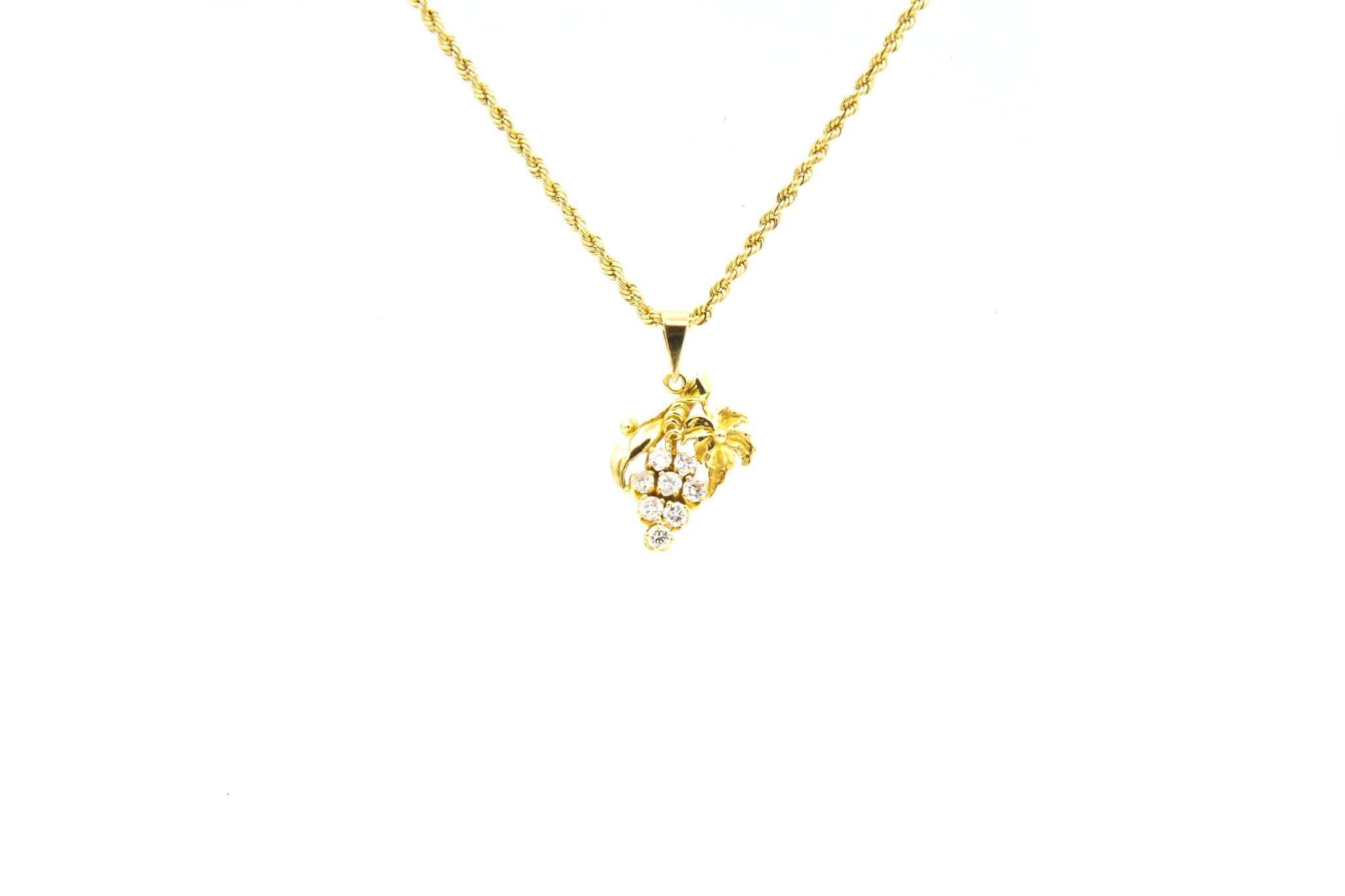 Hanger druiventros met diamanten-1